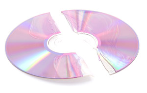 cracked DVD disc